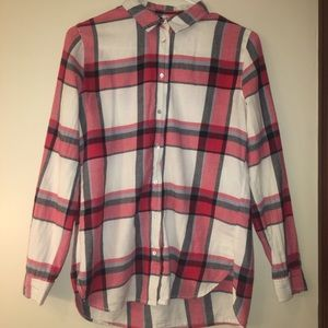 H&M red and white flannel